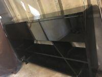 Lovely black gloss side table