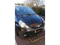2005 HONDA JAZZ 1.4 PETROL MANUAL IN BLACK BREAKING FOR PARTS
