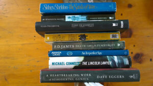 Books, mostly hard cover. All sorts of titles