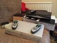 Sky TV box x 2 plus wireless router & remotes