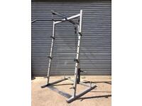 Gymano power squat rack with cables