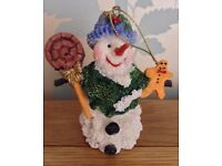 Christmas in July Hanging Snowman Christmas Tree Decoration