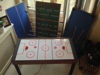 4 in 1 multi games table, football, pool, table tennis & air hockey