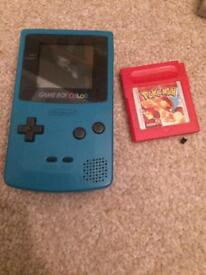 Gameboy Color And Pokemon red
