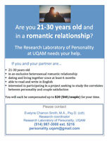 Recruiting couples 21-30 years old for a psychology study! $