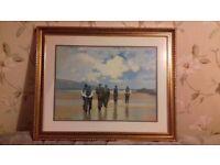 Large print picture John Skelton in beautiful wooden frame