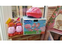 Kids Peppa Pig Roller Skate Set