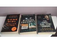 The Girl On The Train, Gone Girl, Missing Presumed. 3 Paperback Thrillers