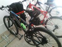 2 Aluminium frame mountain bikes.