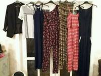 Size 8-10 women's summer clothes. Jumpsuits. Dresses. Tops