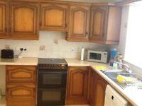 oak kitchen with dresser