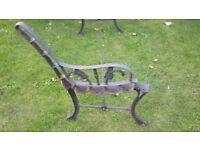 Antique cast iron bench ends