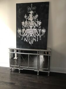 Large Urban Barn chandelier painting on canvas