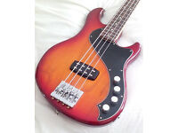 Fender Dimension Deluxe IV Bass Guitar, Aged Cherry Burst, Used, £400