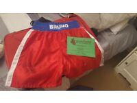 Signed frank bruno shorts with full coa