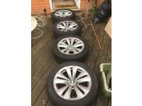 7 series alloys wheels and Tyers 18 inch original good conditions 1050