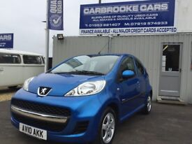2010 10 PEUGEOT 107 VERVE - 5 DOOR - 58,000 MILES FSH - ALLOYS - AC - 12 MONTHS MOT - SERVICED -