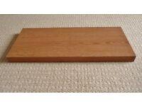 60.2 X 25 X 3.7 cm Beech Effect Floating Rectangular Shelf Shelving Bedroom Living Dining Room etc