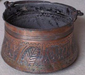 Copper Bucket/Scuttle/Pot/Cauldron