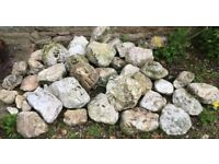 Selection White Rockery Stones - individually or as a lot