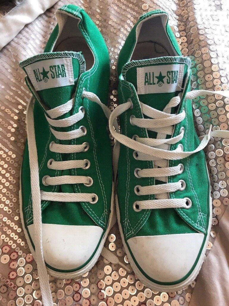 Men's Green converse size 9