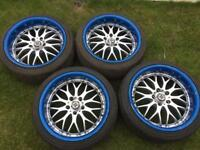 "18"" deep dish alloy's x4 with tyres"