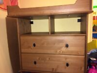 IKEA baby changing unit/chest of drawers