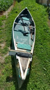 Canoe and Motor