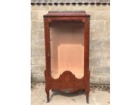 Rare Antique French Inlaid Shop Display Case