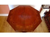 Victorian Mahogany inlaid octagonal 2 tier occasional table.