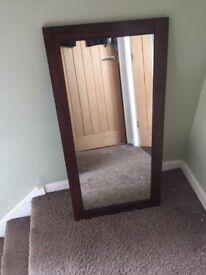 Dark wood mirror - brand new in box