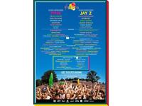 V festival weekend camping x2