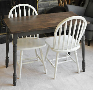 Small Dining Set or Desk For Two with Rustic Character