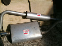 Exhaust system for Rover 414i & 416i (incl Cabriolet) WITH CHROME TAIL PIPE