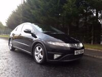 APRIL 2008 HONDA CIVIC ES 2.2 I-CTDI 6SPEED Panoramic Roof Great Condition Great Value MOT May2018