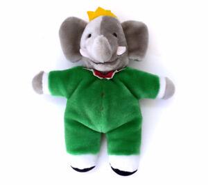 "Vintage Babar Elephant King Hand Puppet 1988 GUND 11"" Stuffed Pl"