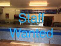 Fish and Chips shop Staff wanted