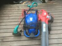Good compacted lawn mower and strimmer and blower and vac