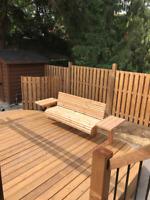 Sheds*Renovations*Decks*Custom deck seating*Pergola*Fencing