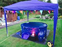 Hire A Hot Tub for 4, 7 or 14 Days! With Gazebo, Lights, Music, Spa Bar! - Eazy Hot Tub Hire