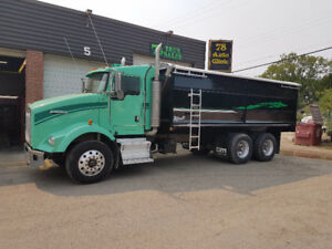 07 KENWORTH T800, 18SPD EATON AUTOSHIFT, NEW GRAIN BOX