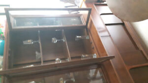Beautiful two piece China cabinet