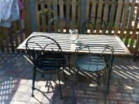 Rustic Garden Tabla and Chairs