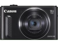 Canon PowerShot SX610 Digital Camera, 20.2MP CMOS Sensor, 18x Optical Zoom, Wi-Fi, NFC,