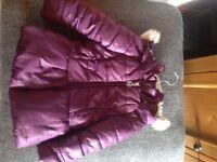 Girls Mayoral purple coat age 3