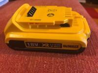 DeWalt Battery 18v XR Li-ion 2.0AH