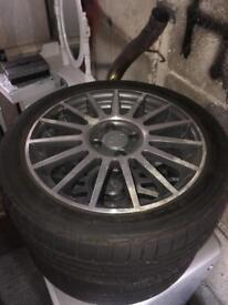 215 45 17 + 2 ST Fiesta Rims Bridgestone tyres