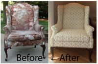 UPHOLSTERY - wingbacks, dining, kitchen and more!