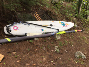 O'Brien Sensation Windsurfer with sail.  complete package