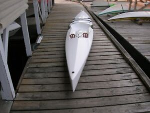 Sit-on-top surf ski kayak